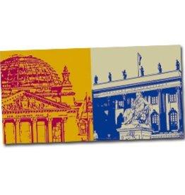 ART-DOMINO® by SABINE WELZ POSTKARTE BERLIN - 01