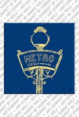 ART-DOMINO® by SABINE WELZ Paris - Metro sign