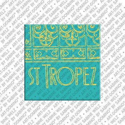 ART-DOMINO® by SABINE WELZ  Saint Tropez - Sign St. Tropez