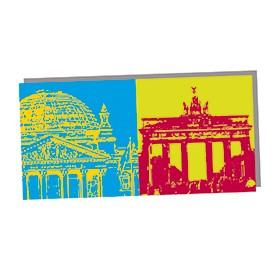 ART-DOMINO® by SABINE WELZ Berlin - Reichstagskuppel und Brandenburger Tor