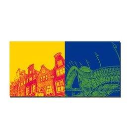 ART-DOMINO® by SABINE WELZ LEINWANDBILD AMSTERDAM - 4126