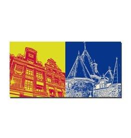 ART-DOMINO® by SABINE WELZ LEINWANDBILD - AMSTERDAM - 4103