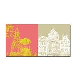 ART-DOMINO® by SABINE WELZ LEINWANDBILD AMSTERDAM - 4105