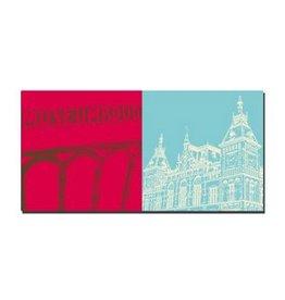 ART-DOMINO® by SABINE WELZ LEINWANDBILD - AMSTERDAM - 4106