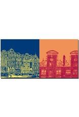 ART-DOMINO® by SABINE WELZ Amsterdam - Skyline + Stadthäuser