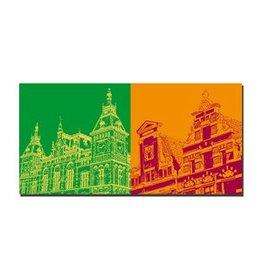 ART-DOMINO® by SABINE WELZ LEINWANDBILD AMSTERDAM - 4110