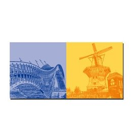 ART-DOMINO® by SABINE WELZ LEINWANDBILD AMSTERDAM - 4111