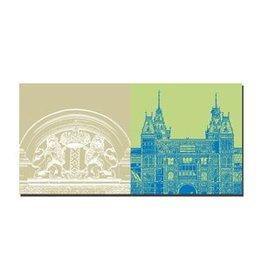ART-DOMINO® by SABINE WELZ LEINWANDBILD - AMSTERDAM - 4116