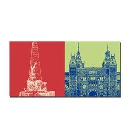 ART-DOMINO® by SABINE WELZ LEINWANDBILD - AMSTERDAM - 4117