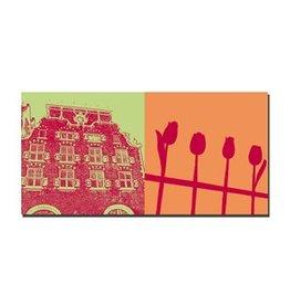 ART-DOMINO® by SABINE WELZ LEINWANDBILD - AMSTERDAM - 4118