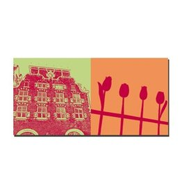 ART-DOMINO® by SABINE WELZ PICTURE ON CANVAS - AMSTERDAM - 4118