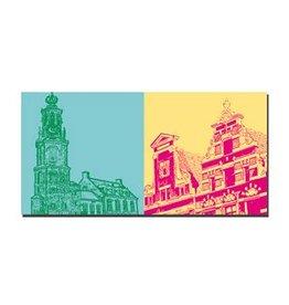 ART-DOMINO® by SABINE WELZ LEINWANDBILD AMSTERDAM - 4119