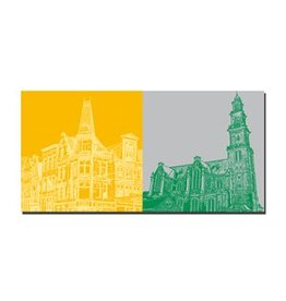 ART-DOMINO® by SABINE WELZ LEINWANDBILD - AMSTERDAM - 4120