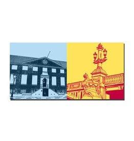 ART-DOMINO® by SABINE WELZ LEINWANDBILD - AMSTERDAM - 4123