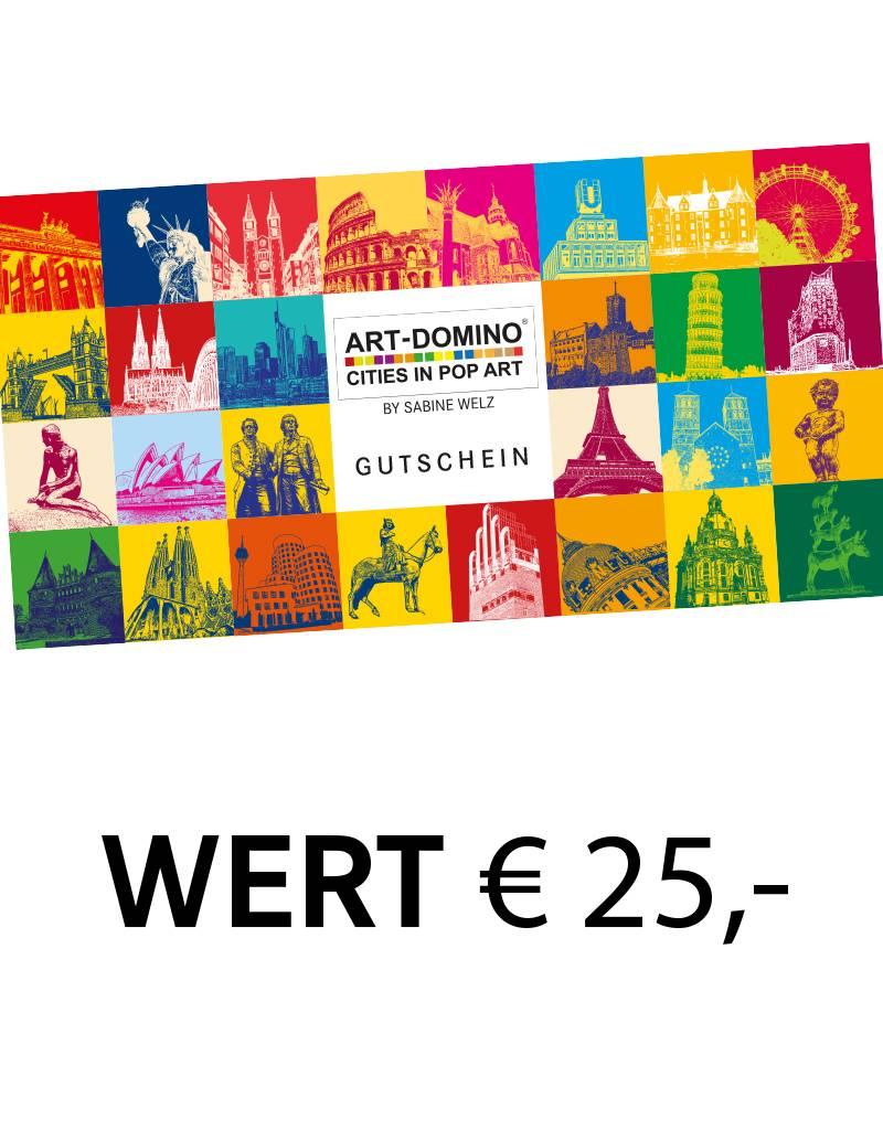 ART-DOMINO® by SABINE WELZ Geschenkgutschein im Wert von € 25,-