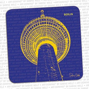 ART-DOMINO® by SABINE WELZ Bierdeckel-Berlin Fernsehturm