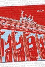 ART-DOMINO® by SABINE WELZ BEER COASTER - Berlin - Brandenburg Gate