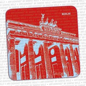 ART-DOMINO® by SABINE WELZ BIERDECKEL - Berlin - Brandenburger Tor