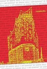 ART-DOMINO® by SABINE WELZ Bierdeckel-Hamburg Elbphilharmonie