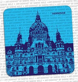 ART-DOMINO® by SABINE WELZ BEER COASTER - HANNOVER