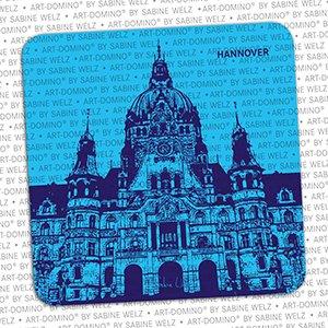ART-DOMINO® by SABINE WELZ Bierdeckel-Hannover Neues Rathaus