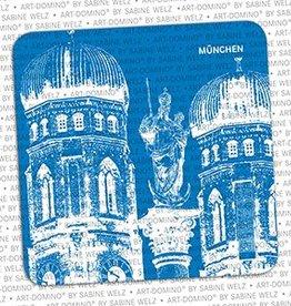 ART-DOMINO® by SABINE WELZ BEER COASTER - MUNICH