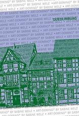 ART-DOMINO® by SABINE WELZ BEER COASTER - Quedlinburg - Old Town