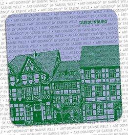 ART-DOMINO® by SABINE WELZ BEER COASTER - QUEDLINBURG