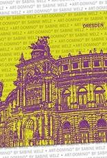 ART-DOMINO® by SABINE WELZ BEER COASTER - Dresden - Semperoper