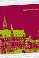 ART-DOMINO® by SABINE WELZ BEER COASTER - Neuschwanstein - Neuschwanstein Castle