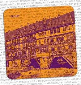 ART-DOMINO® by SABINE WELZ BEER COASTER - ERFURT