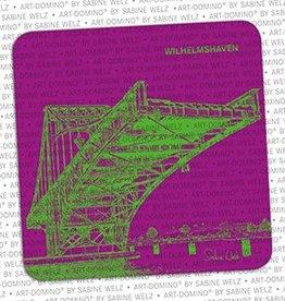 ART-DOMINO® by SABINE WELZ BEVERAGE COASTER - WILHELMSHAVEN