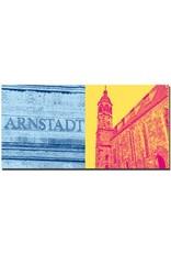 ART-DOMINO® by SABINE WELZ Arnstadt - Arnstadt-Schriftzug + Oberkirche