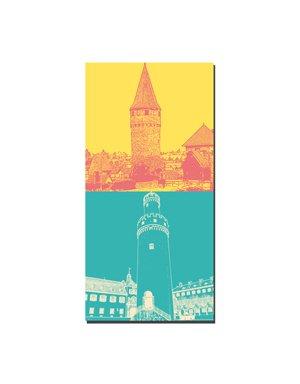 ART-DOMINO® by SABINE WELZ Bad Homburg - Ritter-von-Marx-Brücke + Weisser Turm / Innenhof