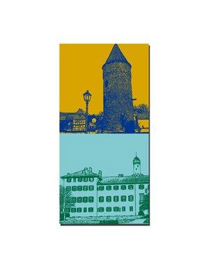 ART-DOMINO® by SABINE WELZ Bad Homburg - Rathausturm + Schloss Bad Homburg