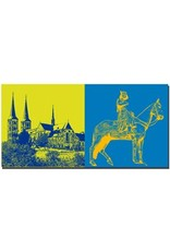 ART-DOMINO® by SABINE WELZ Bamberg - Kloster Michelsberg + Bamberger Reiter