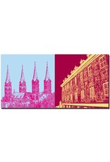 ART-DOMINO® by SABINE WELZ Bamberg - Dom Türme St. Peter und St. Georg + Altes Rathaus Freskenfassade