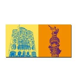 ART-DOMINO® by SABINE WELZ LEINWANDBILD - BARCELONA - 4702