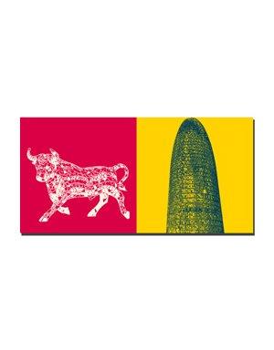 ART-DOMINO® by SABINE WELZ Barcelona - Gaudi-Stier + Torre Agba