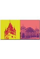 ART-DOMINO® by SABINE WELZ Basel - Rathausturm + Bahnhof