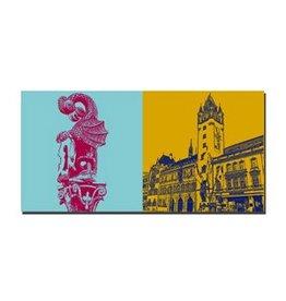 ART-DOMINO® by SABINE WELZ LEINWANDBILD - BASEL - 9412