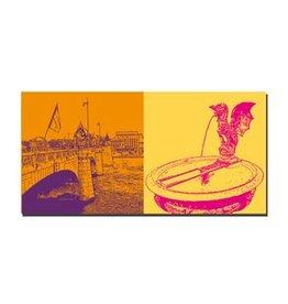 ART-DOMINO® by SABINE WELZ LEINWANDBILD - BASEL - 9416