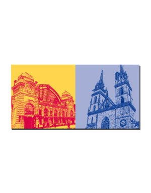 ART-DOMINO® by SABINE WELZ Basel - Bahnhof + Münster