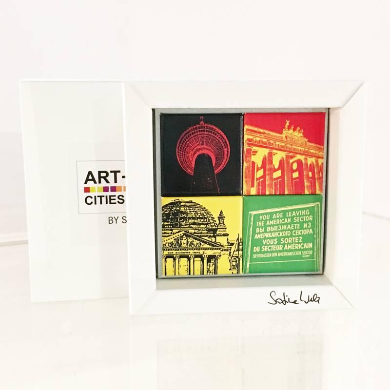 ART-DOMINO® by SABINE WELZ Passende Geschenkeschachteln für unsere Städte-Magnete