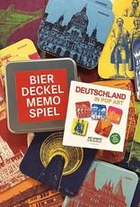 """ART-DOMINO® by SABINE WELZ Bierdeckel-Memo """"Deutschland in POP ART"""""""