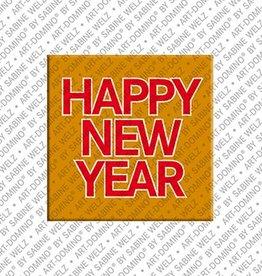 ART-DOMINO® by SABINE WELZ Magnet HAPPY NEW YEAR
