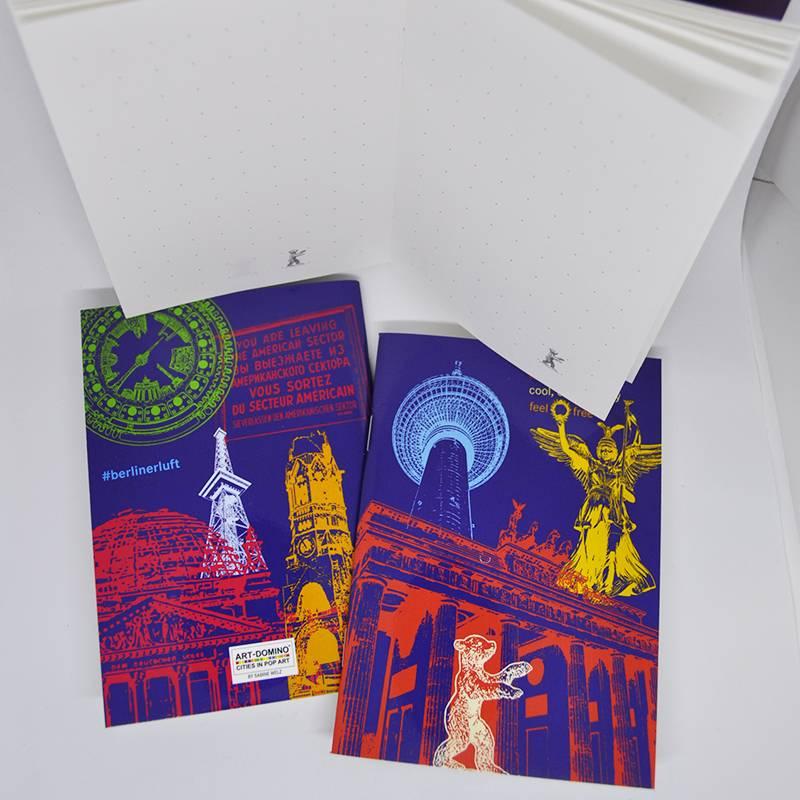 ART-DOMINO® by SABINE WELZ Carnet avec des motifs de Berlin