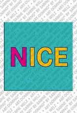 ART-DOMINO® by SABINE WELZ Nice - Lettering Nice 1