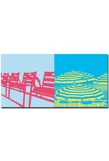 ART-DOMINO® by SABINE WELZ Nice - Chairs + umbrellas on the Promenade des Anglais