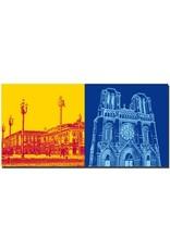 ART-DOMINO® by SABINE WELZ Nice - Place Masséna + Basilisque Notre-Dame de Nice
